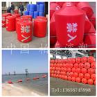 北海银滩浴场警戒线浮球 海边防鲨网浮筒