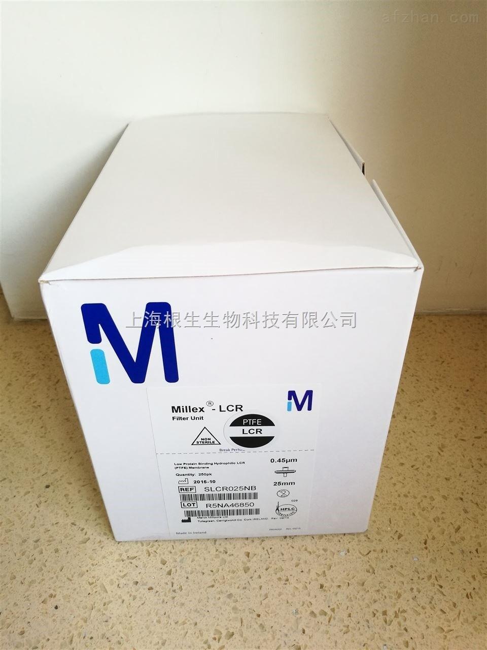 Millipore 0.45um PTFE针头滤器SLCR025NB