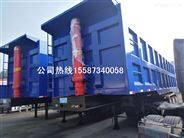 14米两节翻自卸半挂车出口国外载重120吨