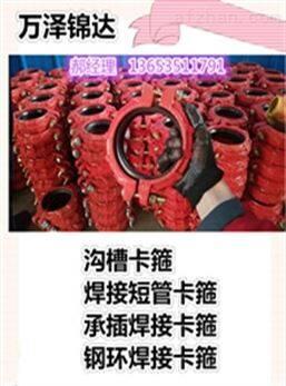 DN40型号高压卡箍接头西藏自治区制作厂家