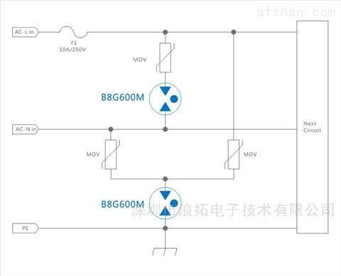220v电源保护放电管