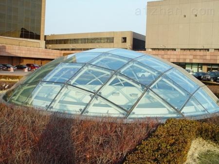 不锈钢 辽宁沈阳加工定制半圆形钢结构玻璃雨棚