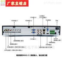 2路VGA2路HDMI输入高清录像机