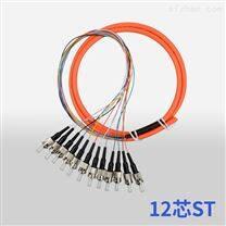 ST多模电信级12芯束状尾纤光纤跳线尾纤