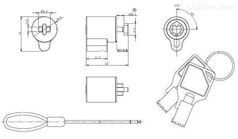 小尺寸筆記本電腦鎖MK808