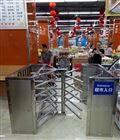 超市單向轉動三滾閘 手推轉閘擋閘