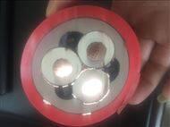 高压橡套软电缆UGFP3*95+3*25-500米现货
