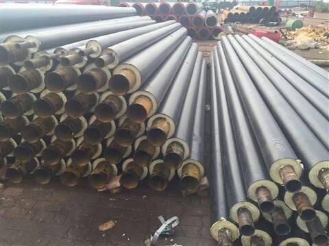 无缝聚氨酯预制直埋热水保温管地埋发泡管厂
