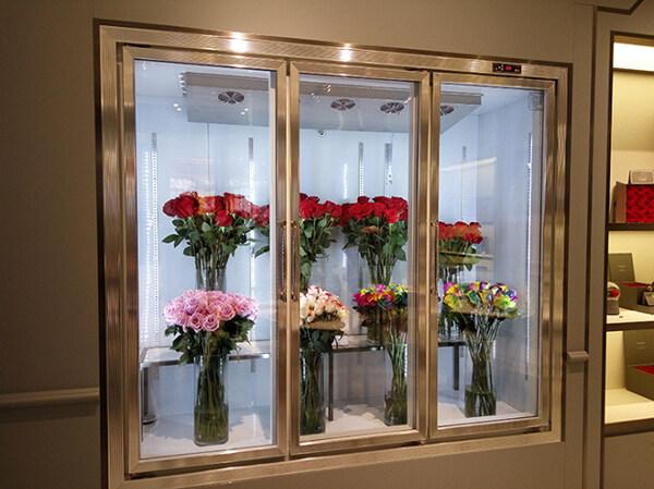 花店保鲜柜实拍照片